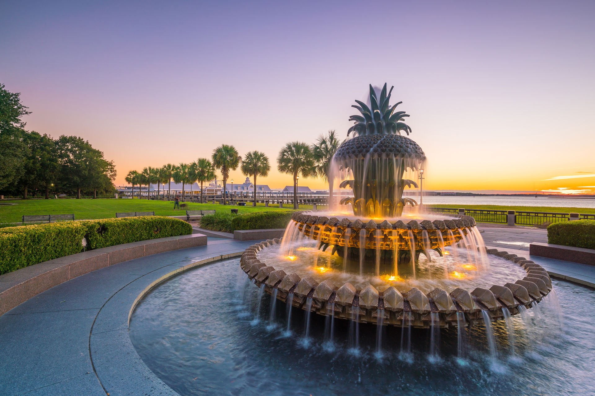 Charleston Fine Homes Pineapple Fountain